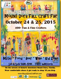 31st Annual Mt. Dora Craft Fair @ Downtown Mt. Dora http://www.aroundmountdora.com/calendar/