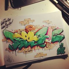 "Graffiti blackbook work by ""BOOGIE"""