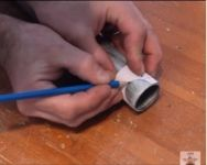 Homemade tube notching method constructed from a calculated paper cutout. Homemade Tube, Homemade Tools, Drill Press, Rings For Men, Paper, Wolves, Drill, Men Rings, Homemade Instruments