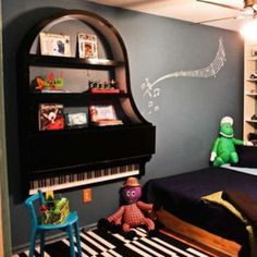 What a fun way to repurpose an unused piano!  If only the keys would work... :)