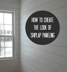 An awesome DIY on how to get the look of shiplap in your home.