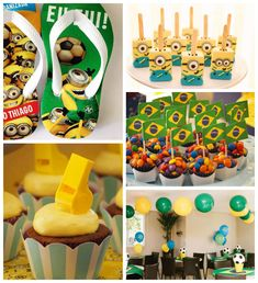 Minion World Cup Birthday Party with Such Awesome Ideas via Kara's Party Ideas | Cake, decor, favors, games, and MORE! KarasPartyIdeas.com #...