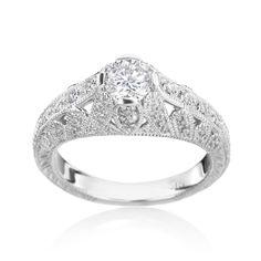 SummerRose 14k Gold 3/4ct TDW Diamond Engagement Ring
