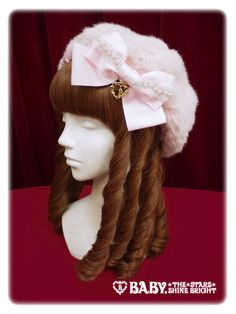 Baby, the stars shine bright Ribbon fur beret