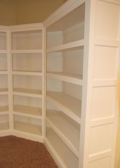 Idea: shelves, but with door and half the shelves are on the door and match up to the other shelves when closed, easier to get to cans. not acutaly seen here