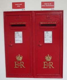 A pair of EiiR Type A (Large) Wallboxes with 10-inch wide aperture were made by Carron from 1973 to 1980. Postbox Nos. 30 & 181, photographed in, Jersey in July 2016. Photo Ref: 137
