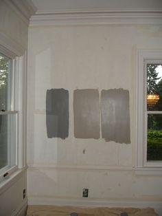 Sherwin Williams Class French Gray SW 0077 (far Left), Sherwin Williams  Mega Greige. Interior Paint ColorsWall Paint ColorsMega GreigePainting ...