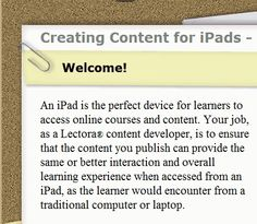 Creating Content for iPads - A Designer's Guide | #mlearning #mobile