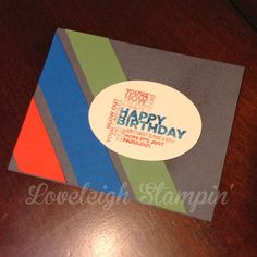 Stampin' Up! Masculine Birthday Card