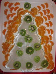 Iced Christmas tree with fruits - Frutta di Natale al ghiaccio. Brrrrr - ;)