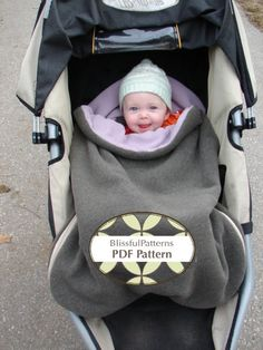 Stroller or Car Seat Bundle Bag PDF Sewing por BLISSFULpatterns