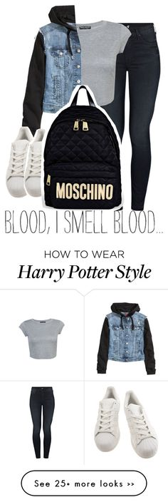 """dripping....."" by alondrauribe on Polyvore featuring Mother, H&M, adidas and Moschino"