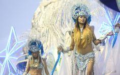 Destaque da Águia de Ouro, última escola a desfilar no sambódromo no primeiro dia do Grupo Especial de São Paulo