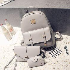 Korean version PU  Women's Shoulder Bag (gray)  NHBH0894