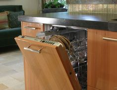 please forget about the visible dishwasher, use your kitchen material in front of your home appliances