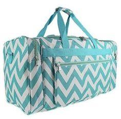 Chevron Fashion Duffel Bag - Aqua Travel Bag Dorm Room Supplies College Stuff for Girls Graduation Gifts for Girls Cheap Luggage Sets, Luggage Bags, College Tote, College List, Canvas Travel Bag, Baby Bump Style, Great Graduation Gifts, Day Bag, Duffel Bag