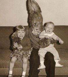 Hilarious website Awkward Family Photos have compiled an archive of funny Easter photos. Here are some of the most sinister and scary Easter bunny funnies