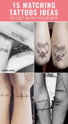 These matching BFF tattoos are for besties that are partners in crime, balance each other out, and, most importantly, always have each other's backs.