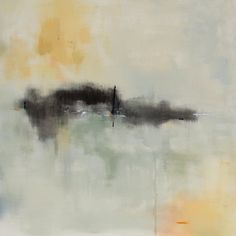"""""""Pulled Out of Time"""" Abstract Landscape Painting by Jacquie Gouveia #minimalism"""