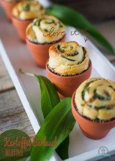 Kartoffel-Bärlauch Muffins (Mini Muffin Herzhaft)