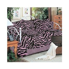 Pink Zebra Print Multiple Piece Comforter Set (105 CAD) ❤ liked on Polyvore featuring home, bed & bath, bedding, comforters, pink, zebra stripe bedding, zebra stripe comforter, pink zebra striped bedding, pink comforter and zebra striped bedding