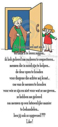 ik ben opgevoed met a. Thoughts And Feelings, Words Quotes, Family Guy, Humor, Fictional Characters, Respect, Mindfulness, Facebook, Humour