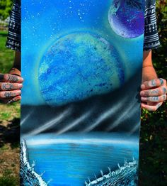 divine.sky. Another newer one! SOLD  DM me for a custom spray paint painting! Check out my Etsy shop! Everything is just $20  http://ift.tt/1Ssb55L --------------------------------------------------------- #etsyshop #space #galaxy #psychedelic #universe #pnw #seattle #seattleart #seattleskyline #spraypaint #sprayart #paint #art #artist #pnw #pnwart #handmade #artcollective #graffiti #graffitiart #streetart #urbanart #graffitilife #drawing #modernart #pnwcreatives #illustration #supportart…