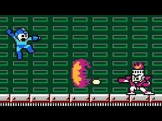 Fireman from Mega Man, defeated by the Boss Fight Database. The Ice Slasher will damage Fire Man much faster than he can damage you.