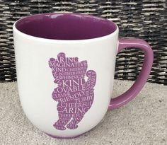 Disney Winnie the Pooh White Purple Ceramic Mug