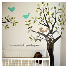 """Tree Wall decal to complete """"forest"""" look"""