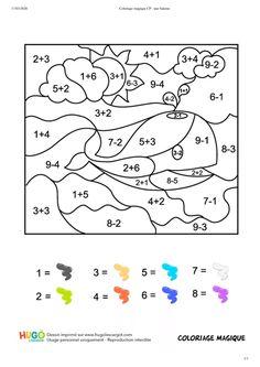 Math Coloring Worksheets, Kids Math Worksheets, 1st Grade Worksheets, Preschool Activities, Math For Kids, Fun Math, Maths, Preschool Learning, Teaching Math