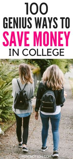 Check out these EASY ways to save & make money in college | Budget tips for students | Save money for teens | Save money in college | How to manage money in college