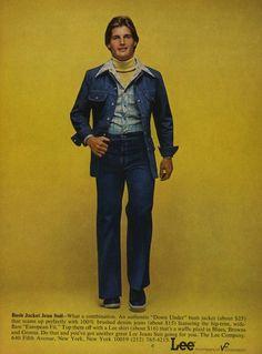 13c75330548f 1970s Lee Adverts from Denim Leisure Suit Hell. Fashion PicturesFashion  Male1970s Fashion For MenFashion HistoryRetro FashionVintage ...