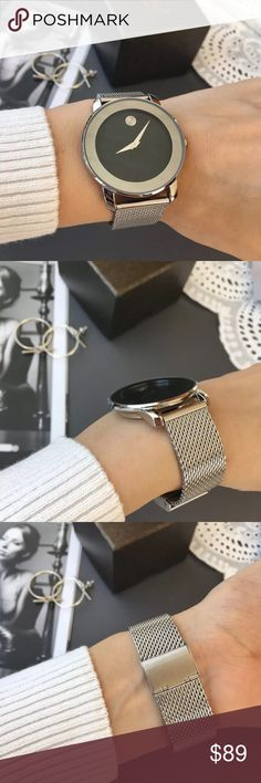 """""""Talk To The Hand"""" yes I know, if you are looking at this beauty its because you live for luxury and style, she is made from stainless steel, water/shock resistant, beautifully large round face with a smooth hidden clasp, the movement is quartz and the sole is incredibly chic, from every day girl to IG snob, this look will flatter everyone, band will fit wrist sizes 6""""-11"""". bundle to get a discount. TSH Accessories Watches"""