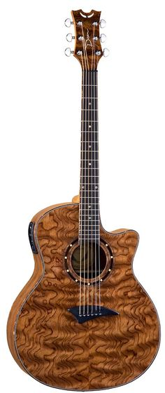 Dean Exotica Bubinga Acoustic Electric Guitar - Love the look of the grain on this.