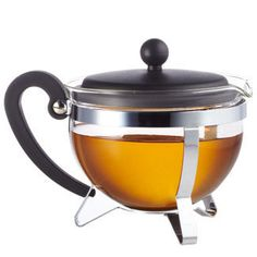 Earl Grey Teapot and Infuser... has a HUGE infuser basket!  really neat!