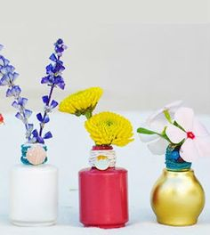 Mini vasos de vidro de esmalte passo a passo - Vale o Clique!