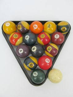 Vintage Standard Size Pool Table Balls by PerfectlyPoshVintage, $32.00