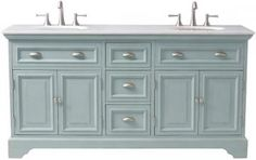 Sadie Double Vanity - Bath Vanities - Bath Vanity - Bathroom Vanity Cabinets | HomeDecorators.com Comes in antique cream!