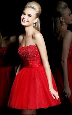 Great Chiffon Short Red Sexy Cocktail Dresses