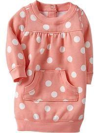 Fleece Sweatshirt Dresses for Baby