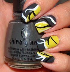 Black, yellow white waves