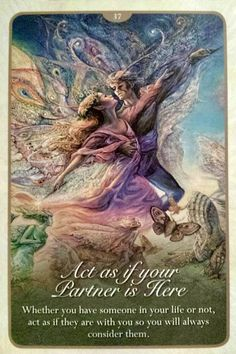 """Act as if your Partner is Here"""" Oracle Cards Whispers of Love par Josephine Wall and Angela Hartfield Josephine Walls artwork and cards are so beautiful and inspirational Josephine Wall, Art Expo, Love Oracle, Angel Guidance, Twin Souls, Oracle Tarot, Angel Cards, Spiritual Life, Magick"""
