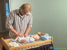 Getting ready for baby - learn how to change a diaper -- @BabyCenter #Video #diapering