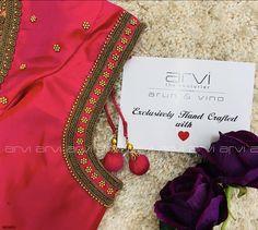 Wedding Saree Blouse Designs, Fancy Blouse Designs, Blouse Neck Designs, Aari Work Blouse, Maggam Work Designs, Maggam Works, Party Wear Lehenga, Pretty Dolls, Cellphone Wallpaper