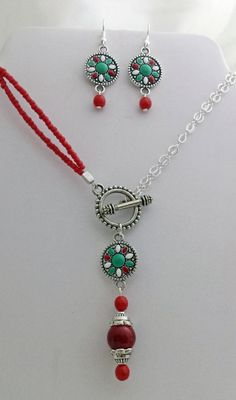 Southwestern Necklace and Earring Set by K. Lynn Designs
