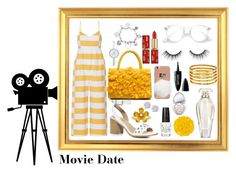 """Movie Date"" by thetrendsetter13133 on Polyvore featuring Mara Hoffman, Boohoo, David Tutera, DKNY, Effy Jewelry, OPI, Illamasqua, Too Faced Cosmetics, Maybelline and Victoria's Secret"