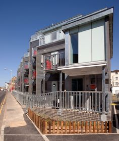 This project in Handcroft Road in Croydon involved the demolition of an existing redundant Bakery and the design and build of 22 new homes for shared ownership and affordable rent. The four-storey block has a large array of hidden photovoltaic panels accommodated on the roof, with the electricity generated and provided to the Landlords meter to benefit from feed-in tariffs. Civil Engineering Projects, Croydon, Being A Landlord, Benefit, Bakery, New Homes, Around The Worlds, Construction, Mansions