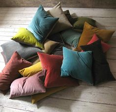 These pillows in those colors make my eyes so happy! ~ Kirsten Heckermann Pillows | Remodelista