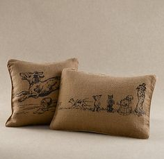 dog prints pillow covers